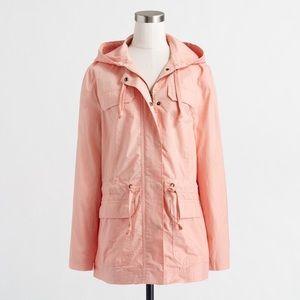 J. Crew hooded twill blush jacket